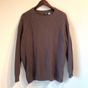 Urban Outfitters BDG Brown Cable Knit Sweater